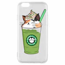 Чехол для iPhone 6/6S Delicious cat