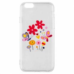 Чехол для iPhone 6/6S Flowers and Butterflies