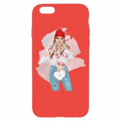 Чехол для iPhone 6/6S Girl in a red sweater
