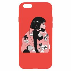 Чехол для iPhone 6/6S Girl with a square