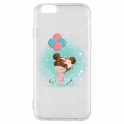 Чехол для iPhone 6/6S Girl with balloons