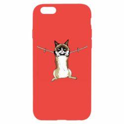 Чехол для iPhone 6/6S Grumpy Cat On The Rope