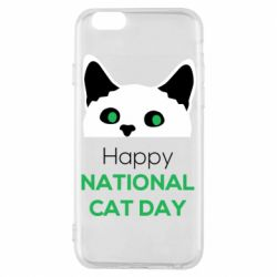Чехол для iPhone 6/6S Happy National Cat Day