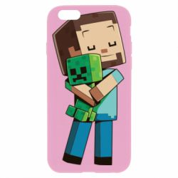 Чехол для iPhone 6/6S Heroes from Minecraft