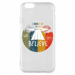 Чехол для iPhone 6/6S I want to believe text