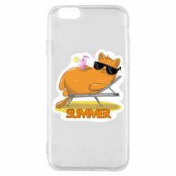 Чохол для iPhone 6/6S Котик на пляжі