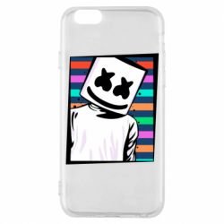 Чехол для iPhone 6/6S Marshmello Colorful Portrait