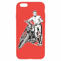 Чехол для iPhone 6/6S Mickey Rourke and the motorcycle
