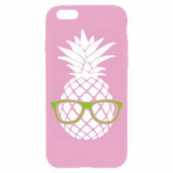 Чехол для iPhone 6/6S Pineapple with glasses