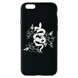 Чохол для iPhone 6 Snake with flowers