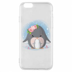 Чехол для iPhone 6/6S Two cute penguins