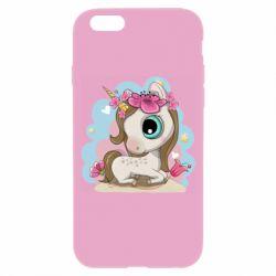 Чохол для iPhone 6 Unicorn with flowers
