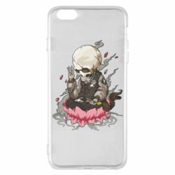 Чехол для iPhone 6 Plus/6S Plus A skeleton sitting on a lotus