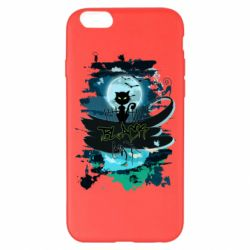Чехол для iPhone 6 Plus/6S Plus Black cat art