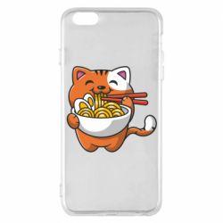 Чохол для iPhone 6 Plus/6S Plus Cat and Ramen