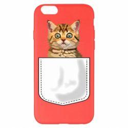 Чехол для iPhone 6 Plus/6S Plus Cat in your pocket