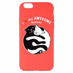 Чехол для iPhone 6 Plus/6S Plus Cats and love