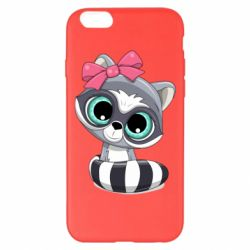 Чехол для iPhone 6 Plus/6S Plus Cute raccoon