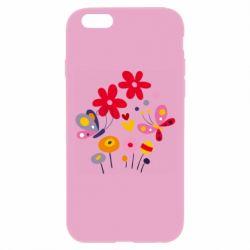 Чехол для iPhone 6 Plus/6S Plus Flowers and Butterflies