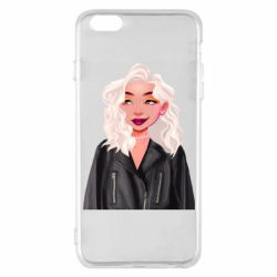 Чохол для iPhone 6 Plus/6S Plus Girl in a leather jacket