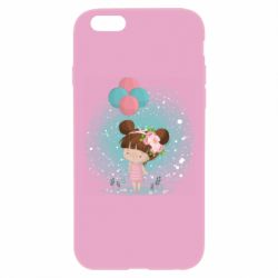 Чехол для iPhone 6 Plus/6S Plus Girl with balloons