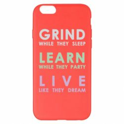 Чехол для iPhone 6 Plus/6S Plus Grind Learn Live