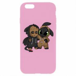 Чехол для iPhone 6 Plus/6S Plus Groot And Toothless