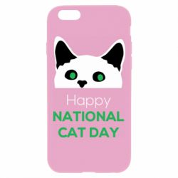 Чехол для iPhone 6 Plus/6S Plus Happy National Cat Day