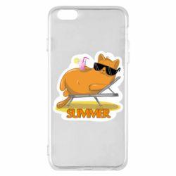 Чохол для iPhone 6 Plus/6S Plus Котик на пляжі