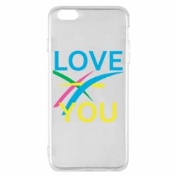 Чохол для iPhone 6 Plus/6S Plus Love You Abstract Lines