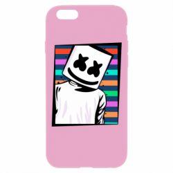 Чехол для iPhone 6 Plus/6S Plus Marshmello Colorful Portrait