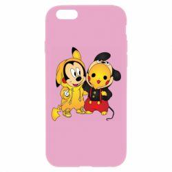 Чехол для iPhone 6 Plus/6S Plus Mickey and Pikachu