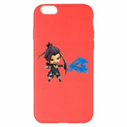 Чехол для iPhone 6 Plus/6S Plus Overwatch Hanzo Chibi