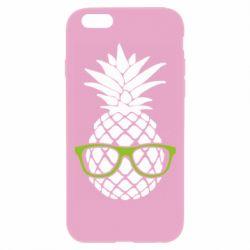 Чехол для iPhone 6 Plus/6S Plus Pineapple with glasses