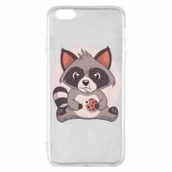 Чохол для iPhone 6 Plus/6S Plus Raccoon with cookies