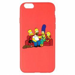 Чехол для iPhone 6 Plus/6S Plus Simpsons At Home