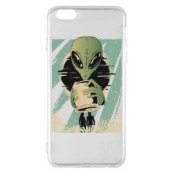 Чохол для iPhone 6 Plus/6S Plus Alien with a can