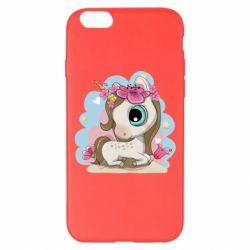 Чохол для iPhone 6 Plus/6S Plus Unicorn with flowers