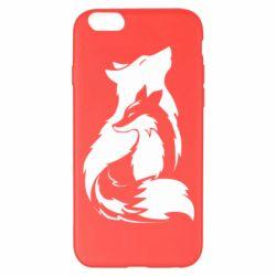 Чехол для iPhone 6 Plus/6S Plus Wolf And Fox