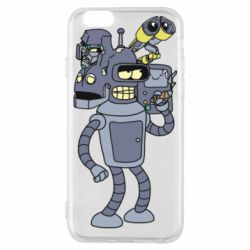 Чохол для iPhone 6S Bender and the heads of robots