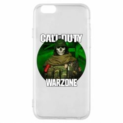 Чохол для iPhone 6S Call of duty Warzone ghost green background