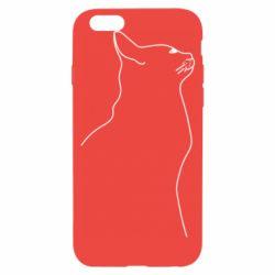 Чохол для iPhone 6S Cat line