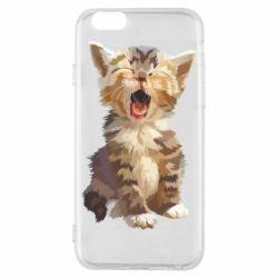 Чохол для iPhone 6S Cute kitten vector