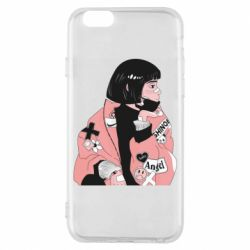 Чохол для iPhone 6S Girl with a square