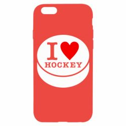 Чехол для iPhone 6S I love hockey
