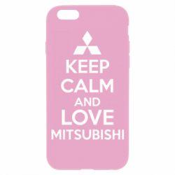 Чехол для iPhone 6S Keep calm an love mitsubishi