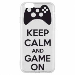 Чехол для iPhone 6S KEEP CALM and GAME ON