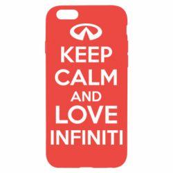 Чехол для iPhone 6S KEEP CALM and LOVE INFINITI
