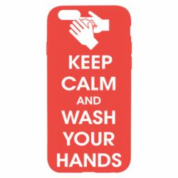 Чохол для iPhone 6S Keep calm and wash your hands