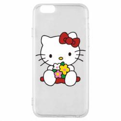 Чехол для iPhone 6S Kitty с букетиком